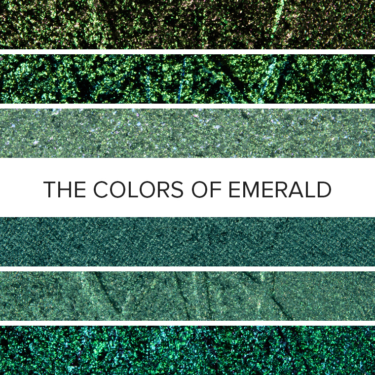 The Colors of Emerald: 20 Eyeshadow Color Combos for May